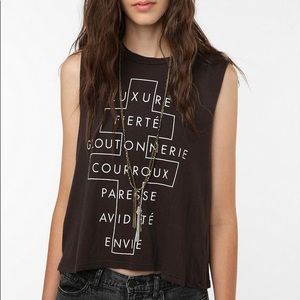 Black muscle tank from urban outfitters